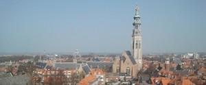 zicht op middelburg vanaf toren stadhuis