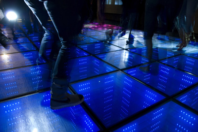 Sustainable Dance Floor in action Studio Roosegaarde